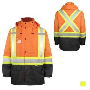 Manteau imperméable haute visibilité TERRA