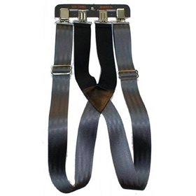 Bretelle en nylon et élastique 2'' Noir