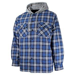 Chemise à carreaux doublée marine avec capuchon