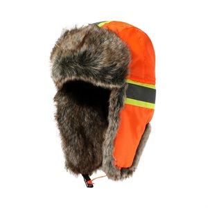 Chapeau d'hiver avec bandes réfléchissantes